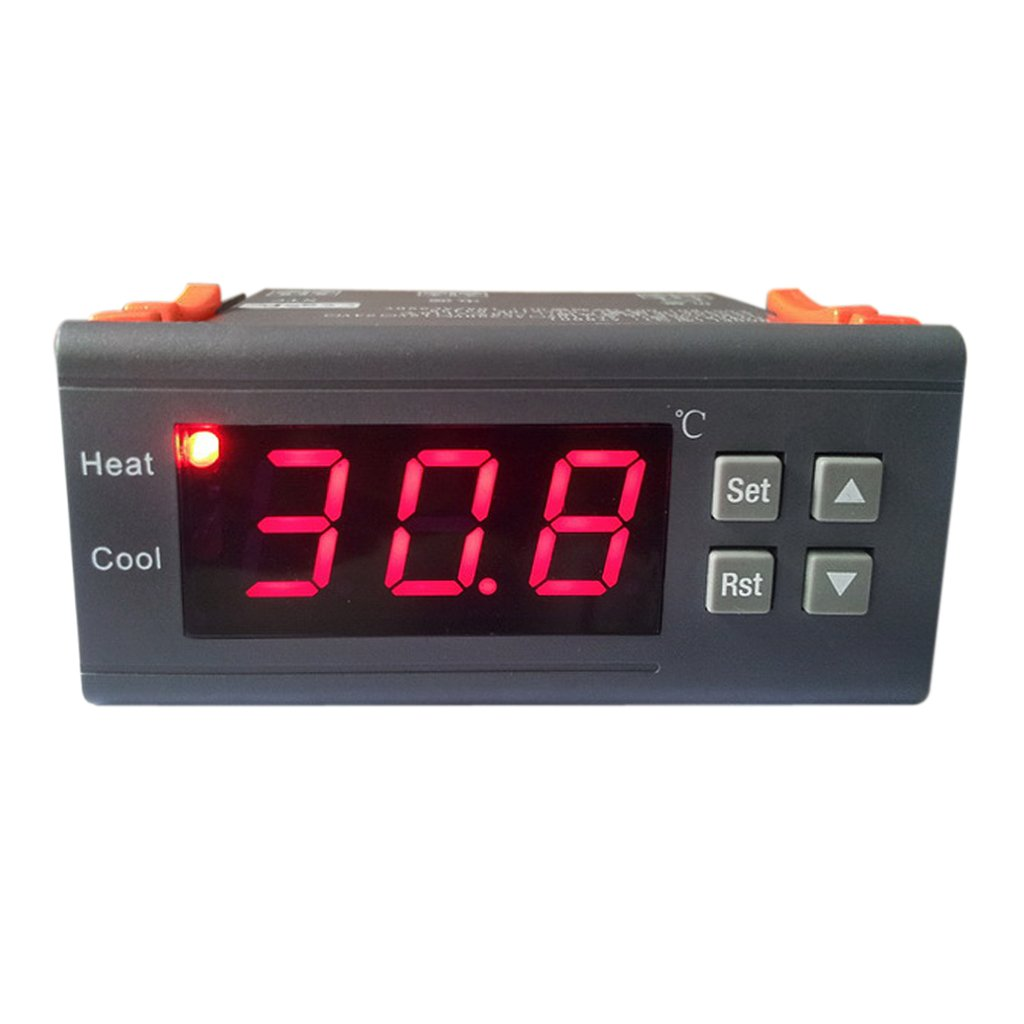 220V AC 10A Digital LCD Temperature Controller Thermostat with Sensor MH1210B