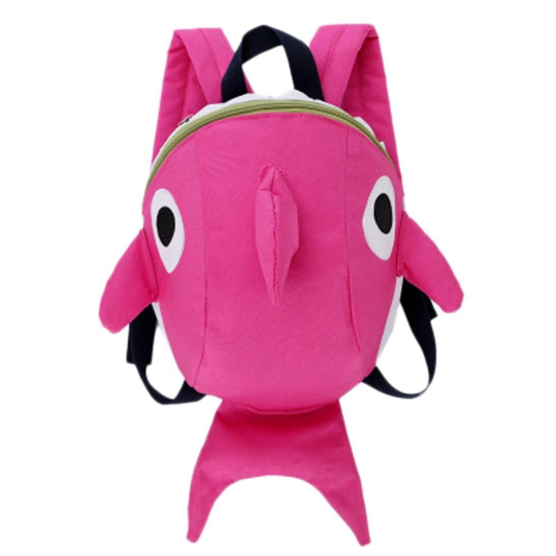 Cinhent バックパック 子供用 アニメ サメ 幼児 赤ちゃん 女の子 男の子 ブックバッグ  ピンク B07FQ4GJWG