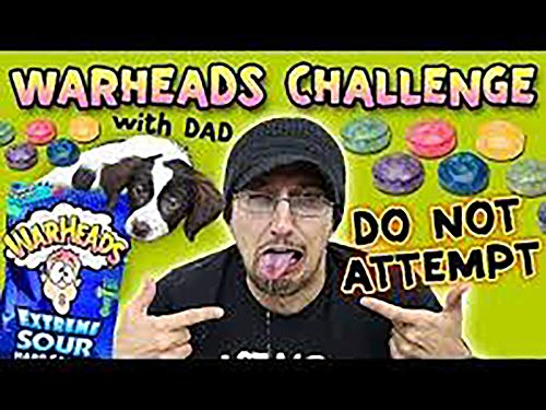 Warheads Challenge With Dad! Whole Bag At Once!