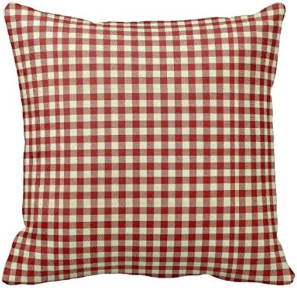 Starings Pillowcase Country Orange Red Gingham Throw Pillow Cover 20in Home Kitchen