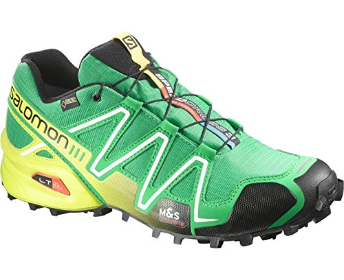 SalomonSpeedcross 3 GTX - Zapatillas de Running para Asfalto Hombre - verde / negro