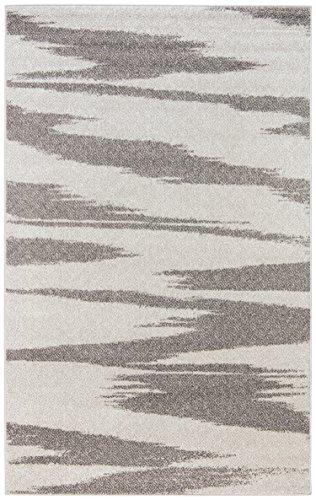 Rivet Modern Zebra Print Rug, 5'x7', Grey by Rivet