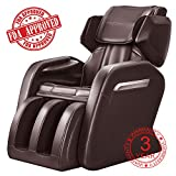 OOTORI Full Body Electric Massage Chair, Zero Gravity Neck, Back, Legs, and Foot Shiatsu Massager with Heat and Foot Rollers, Brown