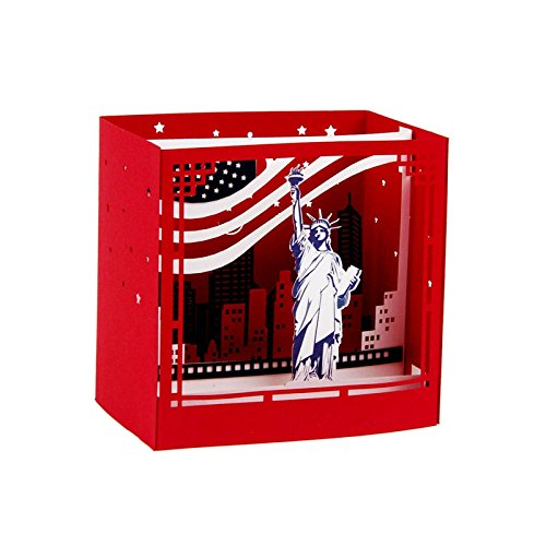 IShareCards Handmade 3D Pop-up Thank You Greeting Cards for Every Occasion (New York Statue of Liberty)