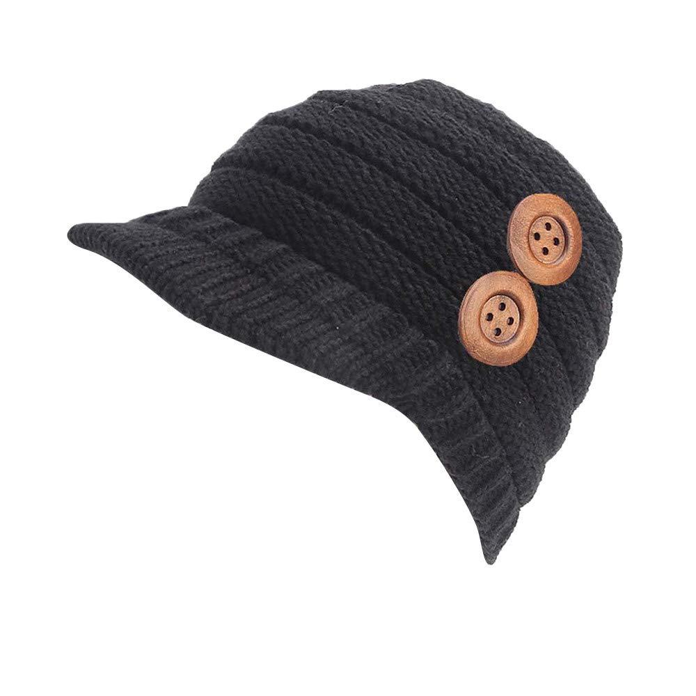 Cappello Berretto donna Inverno Elegante, YanHoo Cappelli da sci con cappelli lavorati a maglia elasticizzati invernali da donna