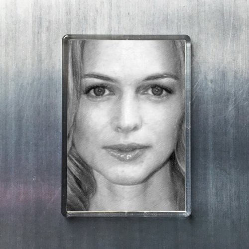 Seasons Heather Graham - Original Art Fridge Magnet #js009