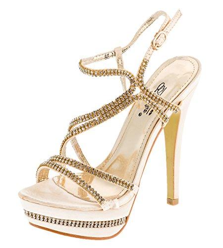 Shayenne - Zapatillas altas Mujer dorado