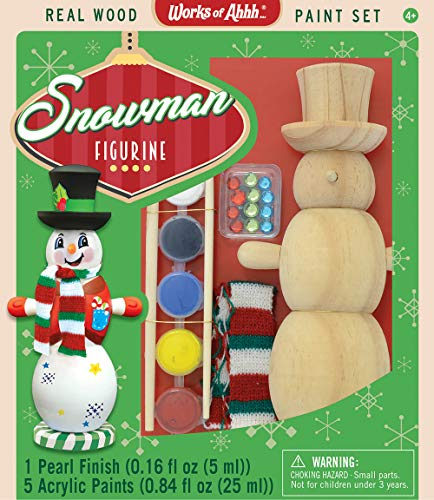 MasterPieces Works of Ahhh…Snowman Holiday Wood Paint -