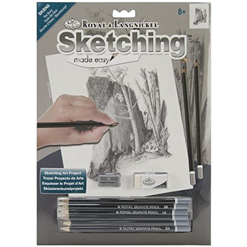 ROYAL BRUSH Sketching Made Easy Kit, 9 by 12-Inch, Tree Stump