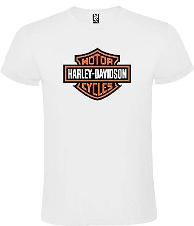 Camiseta Harley Davidson Logotipo Blanca para Hombre 100 ...