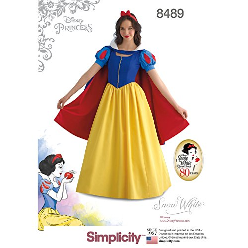 Simplicity US8489HH Disney Women's Snow White Costume Sewing Pattern, Sizes 6-12