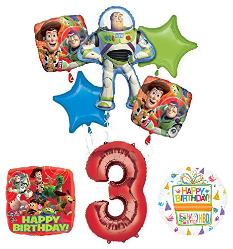 Toy Story 3rd Birthday Party Supplies and Balloon Bouquet Decorations ()