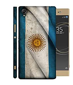 ColorKing Football Argentina 19 Multi Color shell case cover for Sony Xperia XA1 Plus