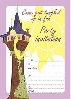 Disney princess rapunzel birthday party invitationsrapunzel 10 x rapunzel tangled children birthday party invitations with white envelopes filmwisefo