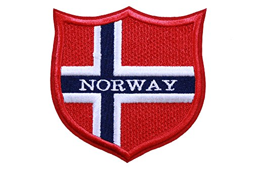 Patch Norway Flag (World Flags Embroidered Patch Shield (3