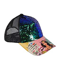 Yarissa Reversible Sequins with Breathable Mesh Cap