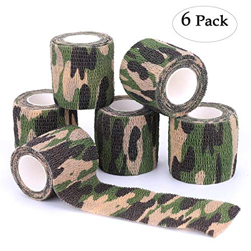 Xinwe Camouflage Tape Self-Adhesive Roll Camo Gun Wrap Military Army Rifle Hunting Tape Protective Bandage for Hunting Gun Accessories,Knives,Flashlight,Bettle,Telescope,Bicycle,Camera