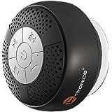 TaoTronics お風呂専用 スピーカー 吸盤式 Bluetooth 3.0 ワイヤレススピーカー マイク搭載 (防水仕様) A2DP/AVRCP対応 TT-SK03 (ブラック)