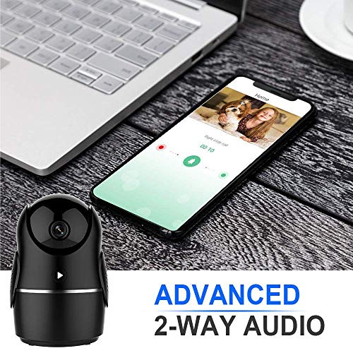 WiFi Camera 1080P Home Security Baby Monitor with Calling, Motion and Crying Detection, Night Vision, Video Recording, Alarm Push, Cloud Storage