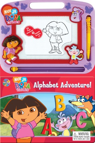 Dora Alphabet Adventure Storybook & Magnetic Drawing Kit(Nickelodeon - Kit Drawing Magnetic