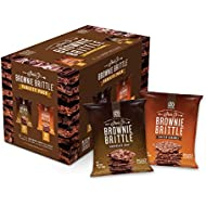 Brownie Brittle, Salted Caramel & Chocolate Chip Variety Pack, 1 Oz Bag (Pack of 20), The Unbelievably Delicious Chocolate Brownie Snack with Cookie Crunch (Packaging May Vary)