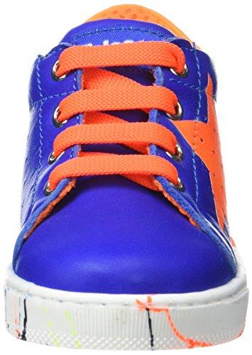 Naturino Falcotto Venus - Zapatos de primeros pasos Bebé-Niños Bleu (Azzuro arancio Fluo'az)