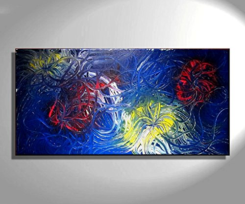 Amazon Com Blue Abstract Painting Original Art Bold Vibrant