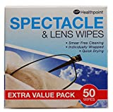 Spectacle Wipes Extra Value pack of 50.