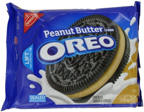 Oreo Peanut Butter Creme Oreo Cookie, 15.25-Ounce (Pack of 4 ...