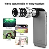 fosa Cell Phone Camera Lens Kit, Universal 12X Zoom Telephoto Telescope Lens with Ultra Stable Holder, High Resolution HD Camera Lens for Game Watching, Concert, Tourism, Animal Observers, Journalist