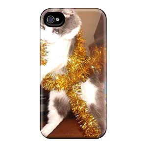 [REK32938Bnhj]premium Phone Cases For Iphone 6/ Dancing Christmas Cat Cases Covers