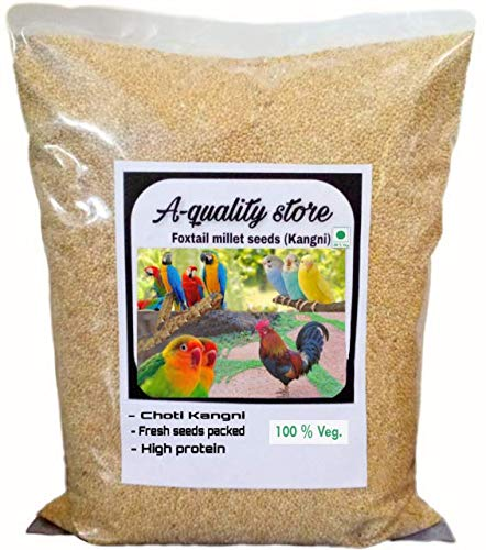 A-Quality Store Premium Kangni Seed Bird Food Foxtail Millet Seeds for Birds 1KG Pack (B0823KXM7T) Amazon Price History, Amazon Price Tracker