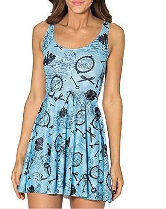 فستان بوليستر ازرق كاجوال -نساء