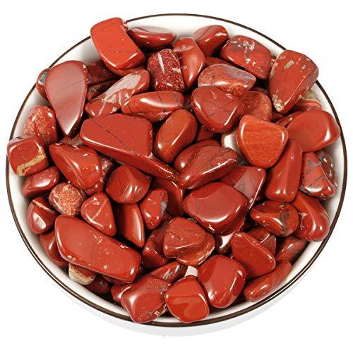 Nupuyai 1 lb Irregular Tumbled Red Jasper Chips for Home Decora Jewelry - Tumbled Agate
