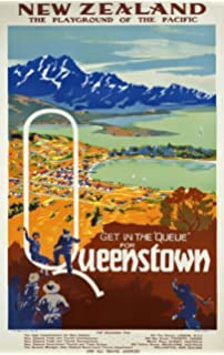 Vintage Franz Josef Glacier New Zealand Tourism Poster A3//A4 Print