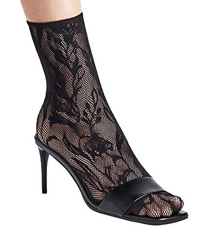 Wolford Wildflower Net Anklet Socks, S, Black