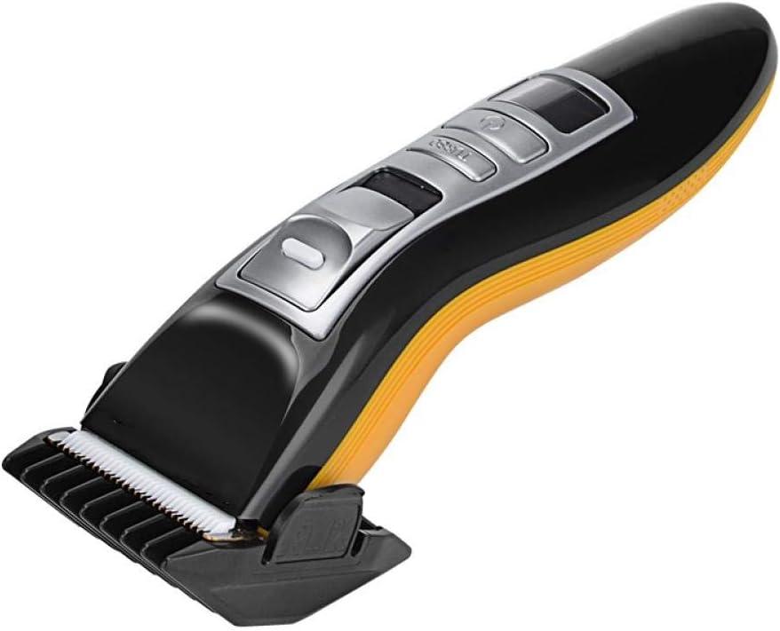 Cortadora de cabello eléctrica recargable profesional con cabeza de titanio para peluquería para hombres máquina inteligente de corte de cabello con pantalla: Amazon.es: Salud y cuidado personal