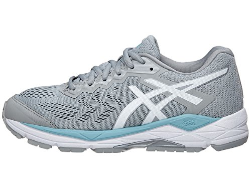 white Gelfortitude Mid Blue Women's Shoe porcelain Running Grey 10 8 Asics aqUd87U