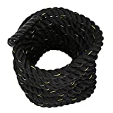 Dooret Poly Dacron 38mm 12m Battle Rope 3-Strand Twisted Exercise Workout Strength Power Training Bodybuilding Undulation Ropes