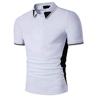 Sylar Polo Manga Corta para Hombre Casual Color Sólido Camiseta ...