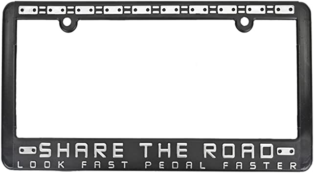 Share the Road License Plate Frame License Plate Frame Share-the Road
