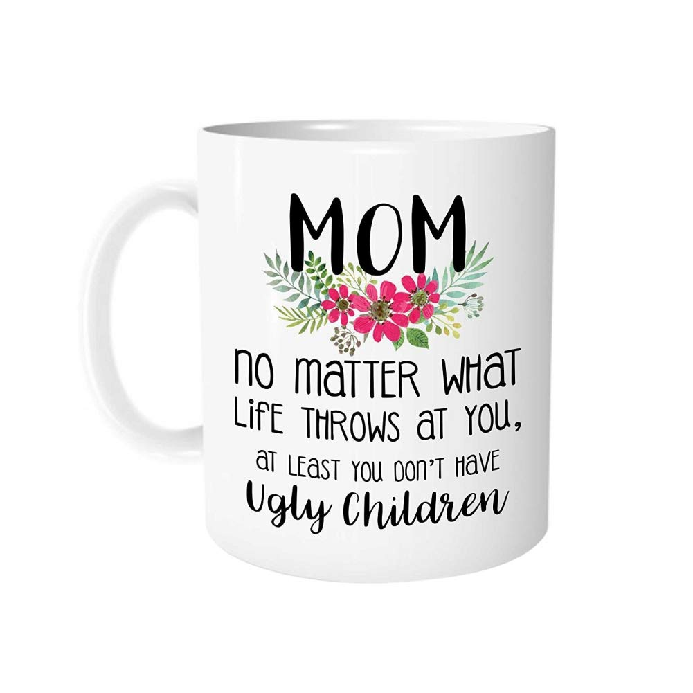 PanDaDa Funny Ceramic Coffee Mugs Best Gifts for Mom Mother Mum from Son Daughter,350ml,E