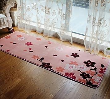 Love Qaz Schlafzimmer Rosa Kirschblüten Wohnzimmer Teppich Bett