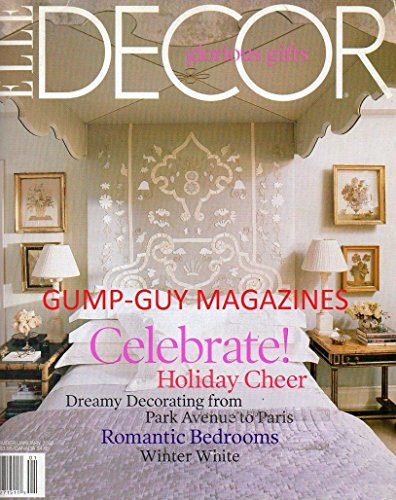 Elle Decor December 2002 January 2003 Magazine CELEBRATE HOLIDAY CHEER: DREAMY DECORATING FROM PARK AVENUE TO PARIS Romantic - Worth Shopping Avenue