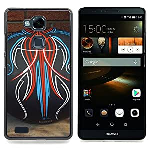 """Planetar ( Tattoo Ink Monster Decal Blanca"""" ) HUAWEI Ascend MATE 7 Fundas Cover Cubre Hard Case Cover"""