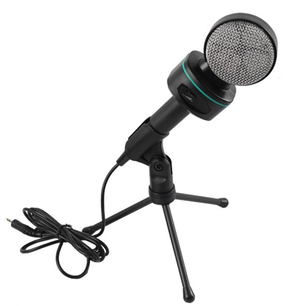 Estone New Multimedia Vocal Condenser Microphone Mic w/ Stand For PC Laptop KTV Singing by Estone