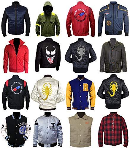 The American Fashion Lightweight Bomber Jacket Mens - Cosplay Jacket & Coat (XXX-Large, John Cena Goofy Ribera Jacket)]()
