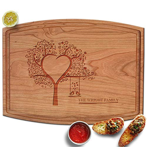 Froolu Heart Tree wood cutting boards for Young Couples Christmas Gifts by Froolu (Image #1)