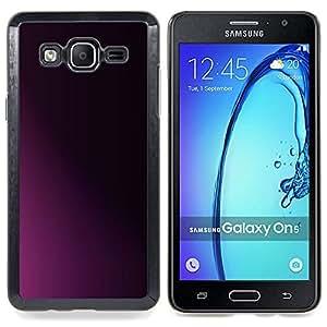 Stuss Case / Funda Carcasa protectora - Limpie minimalista púrpura Sombra Negro - Samsung Galaxy On5 O5