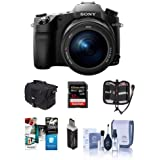 Sony Cyber-Shot DSC-RX10 III Digital Camera, Black - Bundle With Camera Case, 32GB SDHC U3 Card, Memory Wallet, Card Reader, Cleaning Kit, Software Package